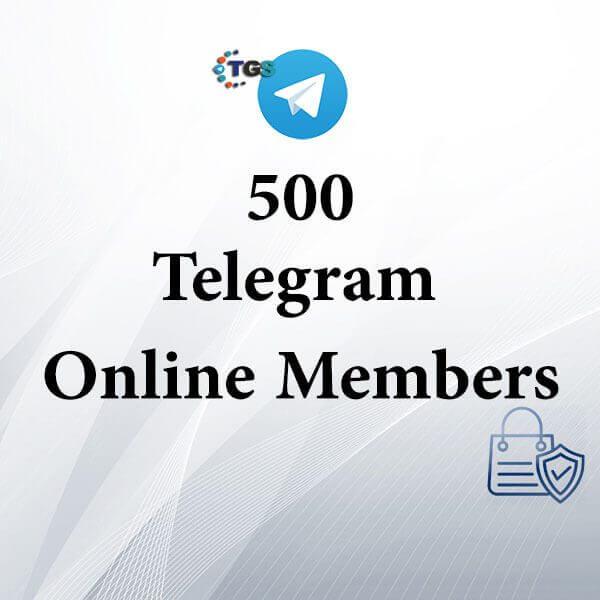 500 Telegram online members