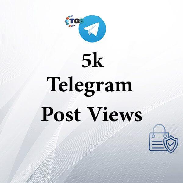5k Telegram post views