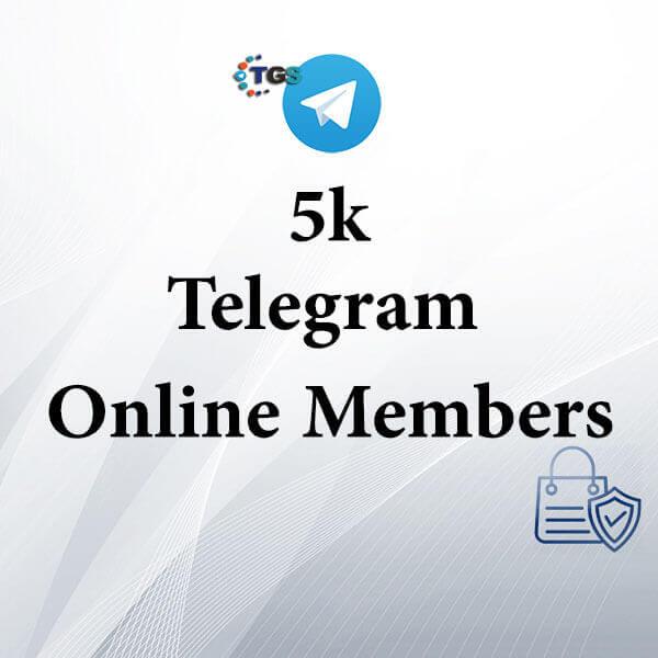 5K Telegram online members