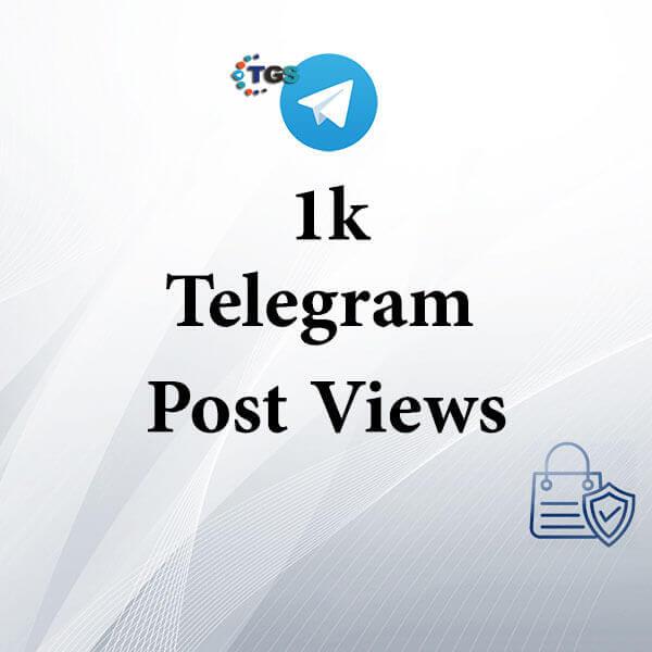 1k Telegram post views